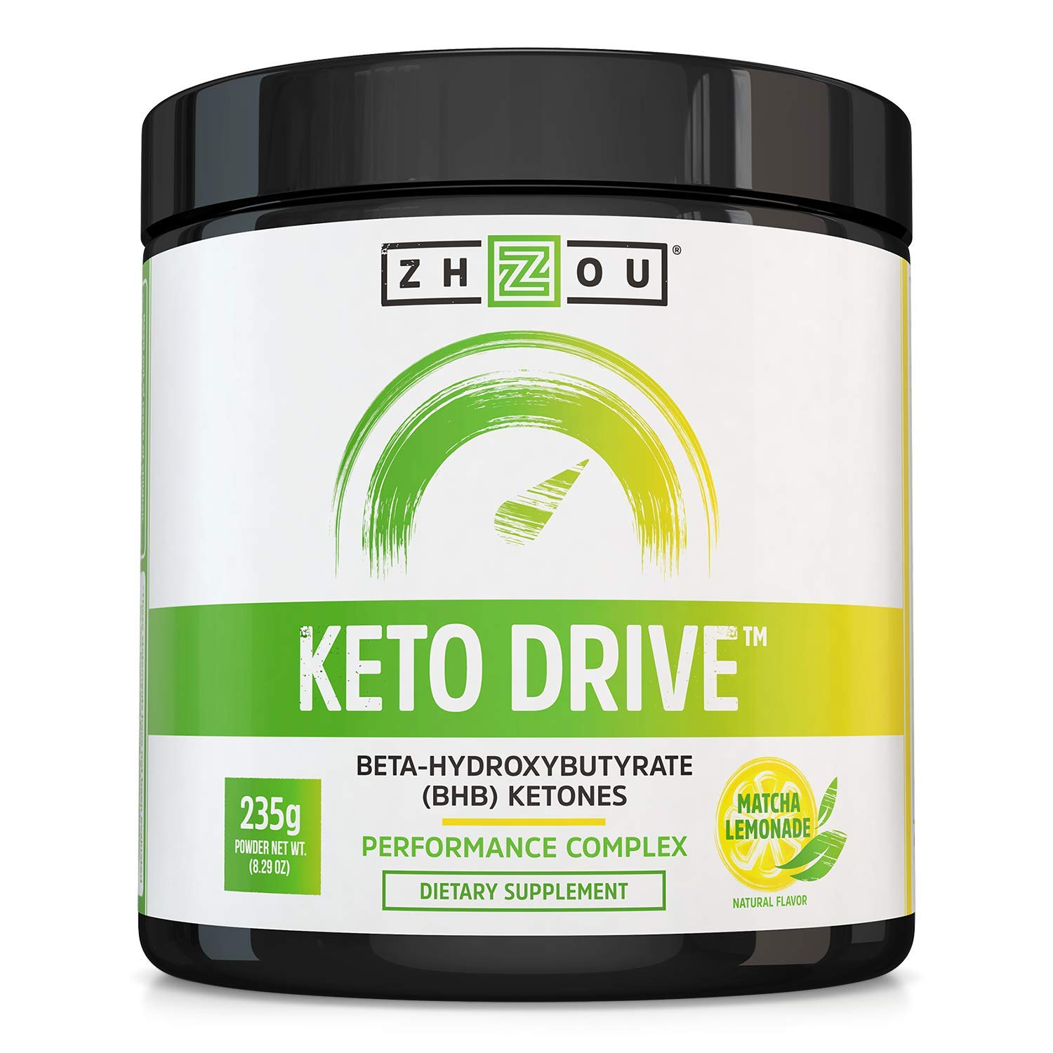 Keto Drive Exogenous Ketone Performance Complex - BHB Salts - Formulated for Ketosis, Energy and Focus - Patented Beta-Hydroxybutyrates (Calcium, Sodium, Magnesium) - Matcha Lemonade by Zhou Nutrition