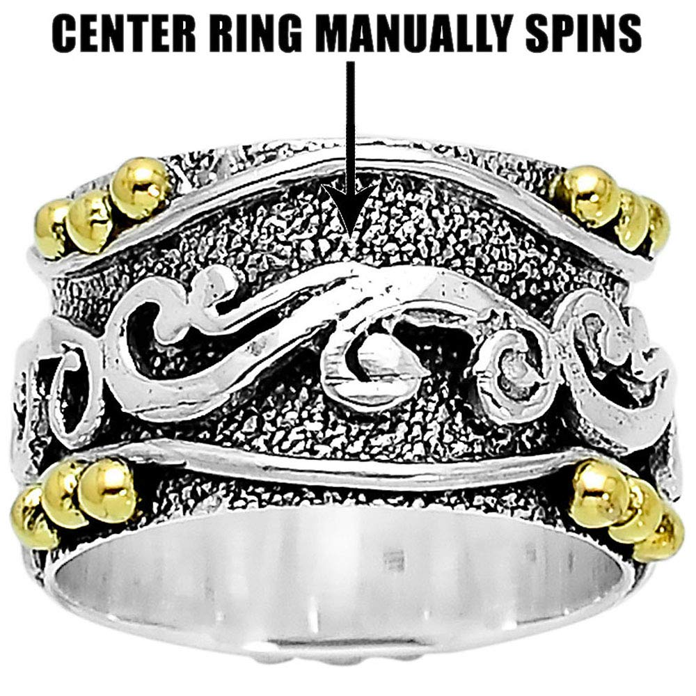 Desiregem Anti Anxiety and Worry Less Spinner Ring Spinning Size DGR1020 7.5