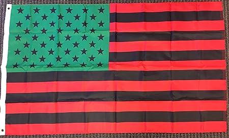 "/""AFRO AMERICAN USA/"" flag 3x5 ft poly"