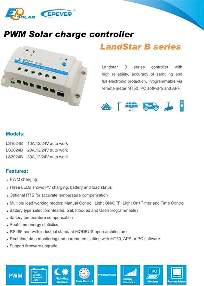 EPsolar LandStar LS3024B PWM Solar Battery Charge Controller 30A ...