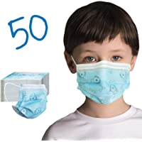50 Pack Kids Disposable Face Mask - Ships from Canada - Cute Design Kids Masks Disposable Fabric Girls & Boys