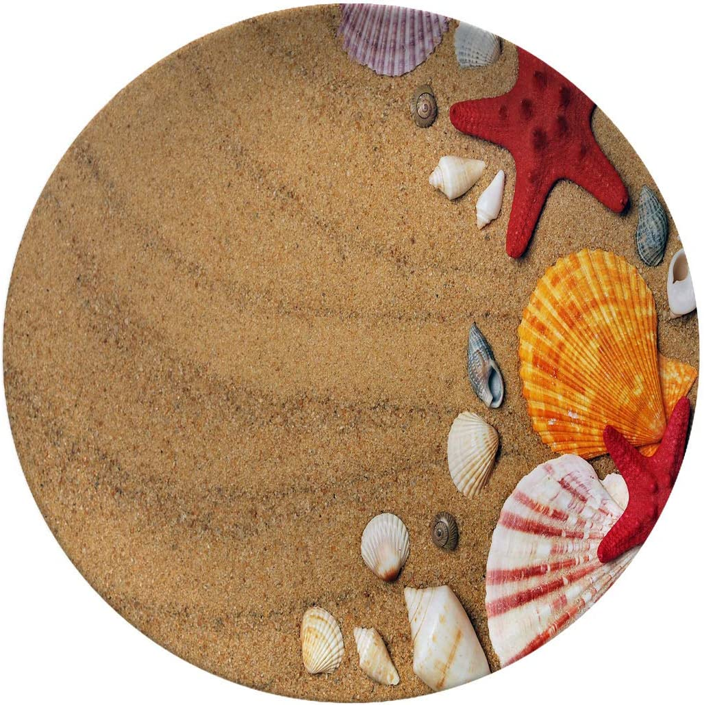 Art Ceramic Dinner Plates,sand Beach Seashell Nature Shell Starfish,dinner Plates For Everyday Use,break-resistant And Lightweight,8 Inch