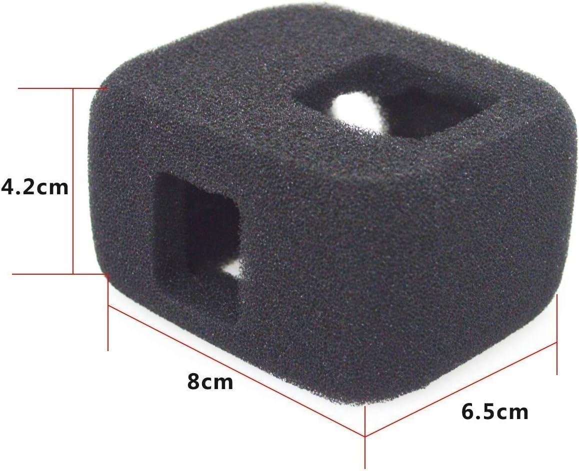 reduziert Windger/äusche f/ür optimale Audio-Aufnahme. 2 St/ück Windschutzscheiben-Abdeckung schwarz kompatibel mit GoPro Hero 7 6 5