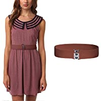 Women's Metal Elasticated Waistband Belt - Adjustable and Stretchable Cinch Belt Suitable for Dress Formal Attires