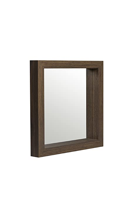 Espejo con marco efecto Caja de almacenamiento Darkwood 47 x 47 cm ...
