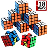 Mini Cube, Puzzle Party Toy(18 Pack), Eco-Friendly Material Vivid Colors,Party Favor School Supplies Puzzle Game Set Boy Girl Kid Child, Magic Cube Goody Bag Filler Birthday Gift