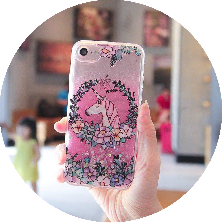 Liquid Quicksand Glitter Cover For Coque iPhone 8 Plus Case Cute