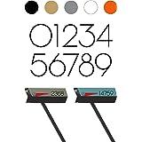 modbox USA Chalet Modern Mailbox Address Numbers, Custom Cut to Order, Set of 2 (Paris)