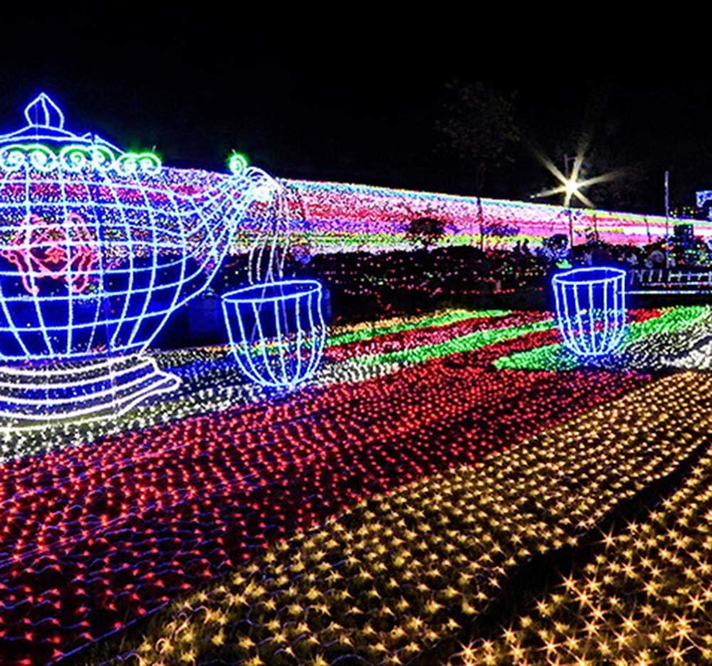 FAPROL Lichternetz, LED Lichterketten Weihnachten Licht, Garten Außen Wasserdichter Lampe Zaun Neues Jahr Dekoration Red