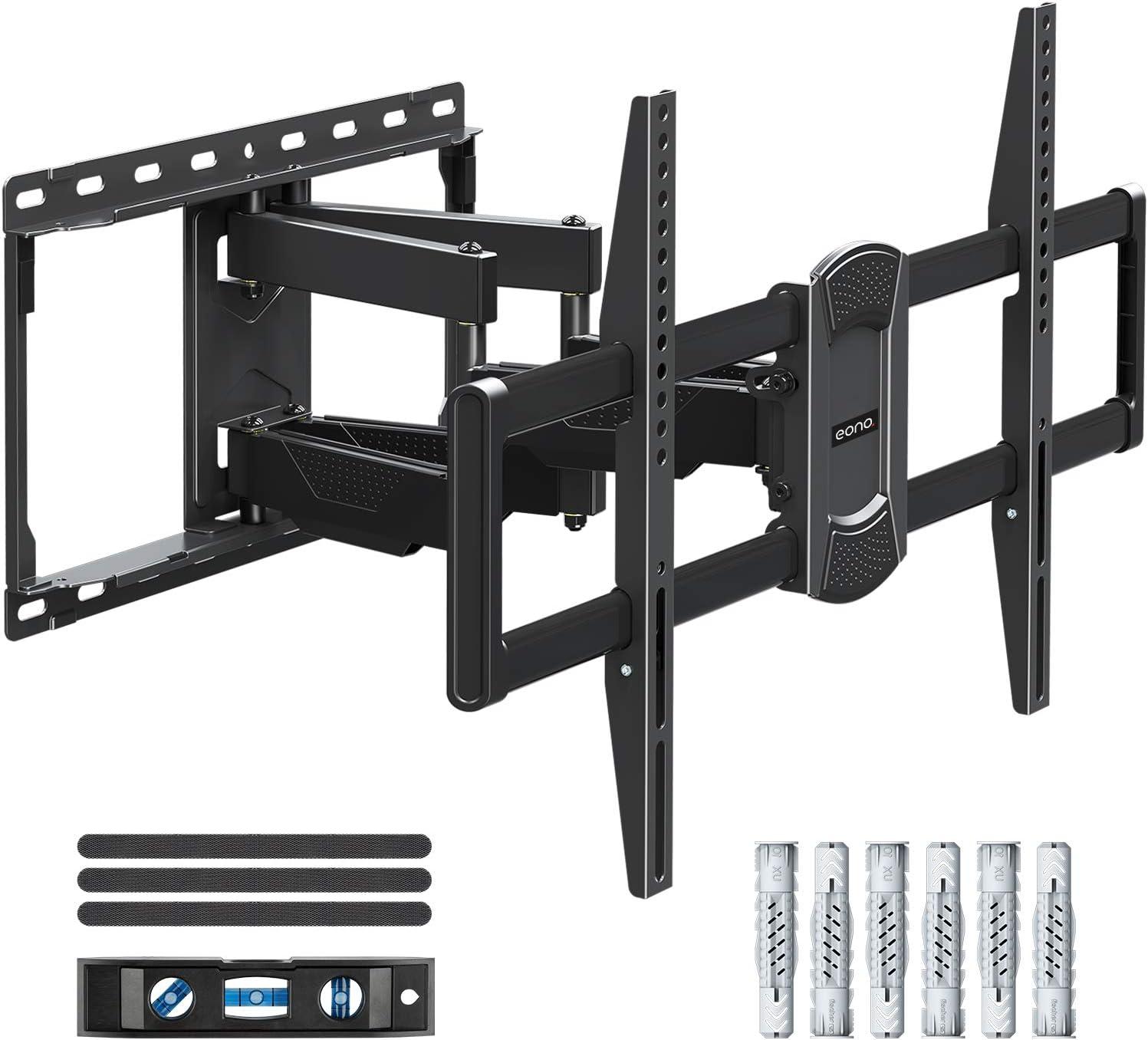 Eono by Amazon - Soporte de Pared TV Giratorio Inclinable para Muchos 42-70 Pulgadas Televisores de LED, LCD, OLED con VESA Entre 200x100 y 600x400 mm y 45,5kg, Soporte TV de Articulado