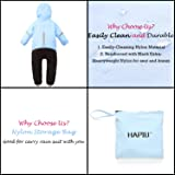 HAPIU Kids Toddler Rain Suit Muddy Buddy Waterproof Coverall,Blue,18M,Upgraded
