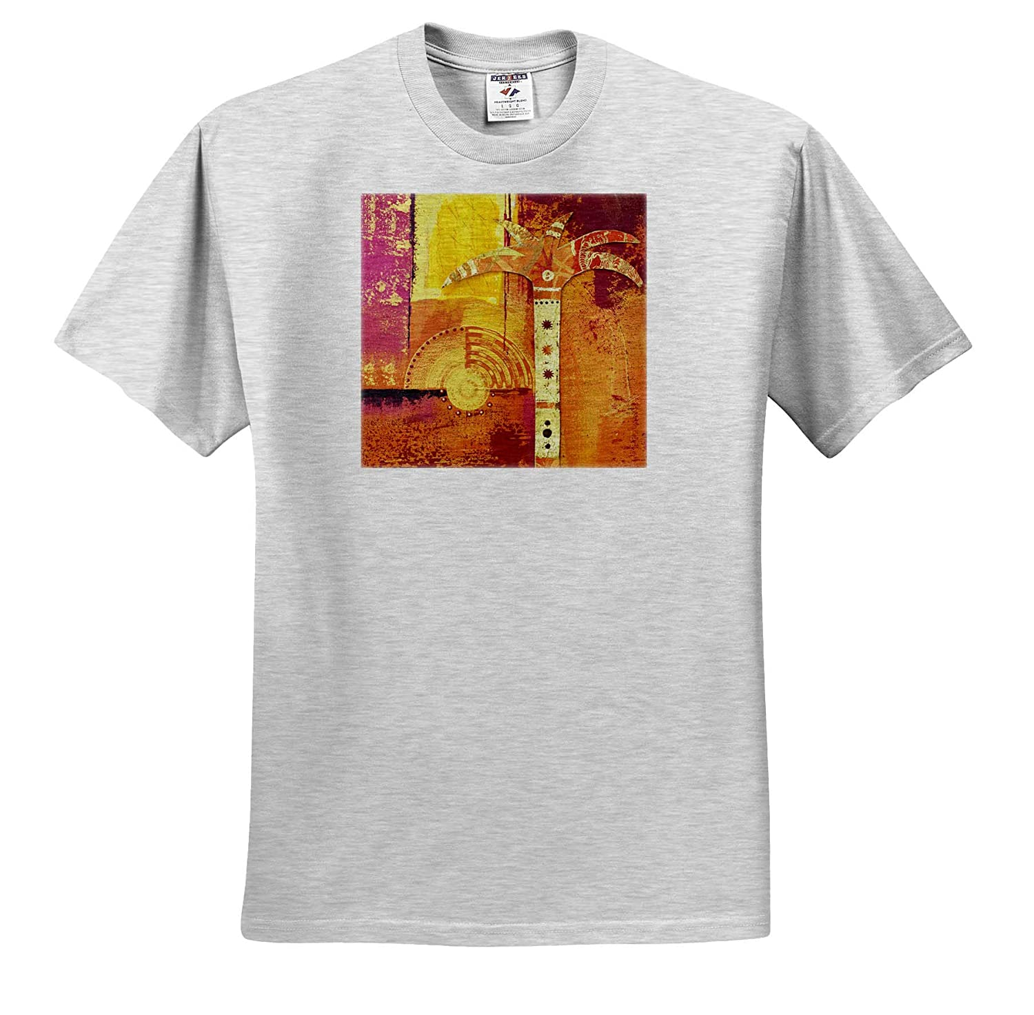 Mixed Media Collage Art Painting with Hand Symbol 3dRose Andrea Haase Art Illustration T-Shirts