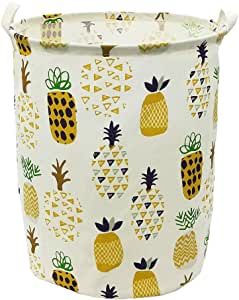 senya Pineapple Laundry Hamper Clothes Hamper Large Capacity Basket with Handles for Storage Clothes Toys in Bedroom Foldable Shopping Purse Bag 231 Bathroom