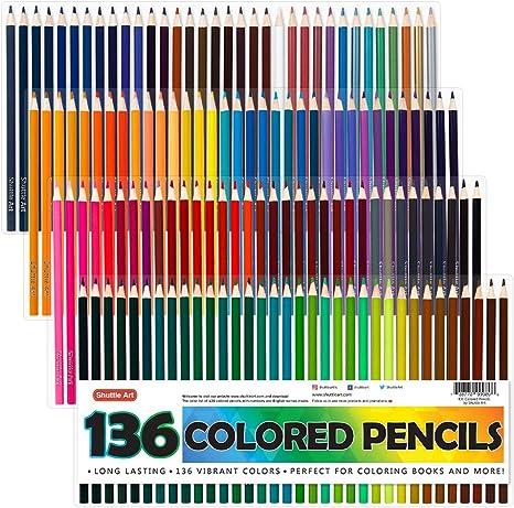 67 piezas Conjunto de arte Childs en un estuche de madera caja resistente Plumas Lápices Lápices de Colores Pinturas