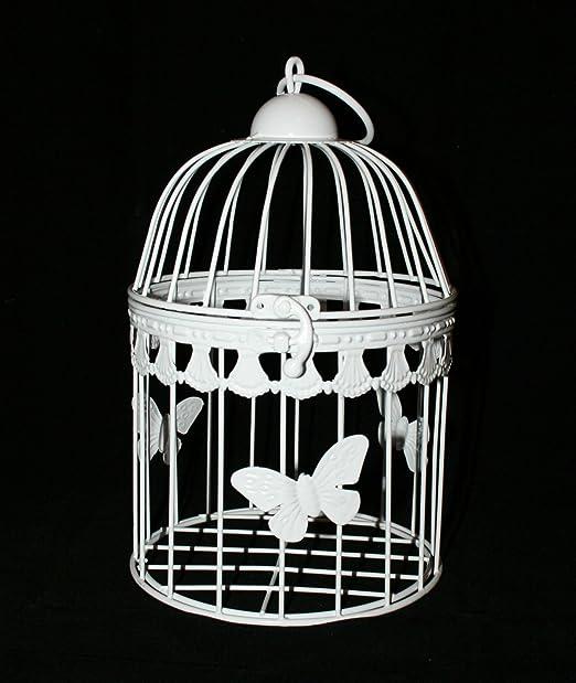 Boda jaula - decorativa pieza central - redondo con mariposa ...