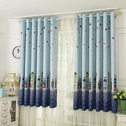 wingbind rideaux d oeillet d obscurcissement dessin anime de fleur a motifs doux rideau pour chambre d enfants salon decor de chambre a coucher 100