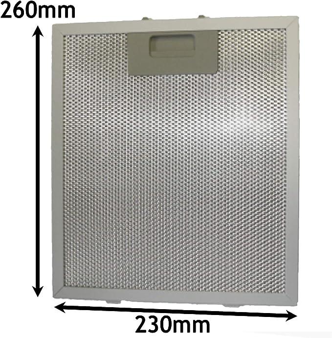 Spares2go - Filtro de grasa de malla de metal para campana extractora de cocina (260 x 230 mm): Amazon.es: Hogar