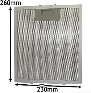Spares2go Filtro de grasa de malla de metal para campana extractora de ventilación para horno ISLW5SS (260 x 230 mm): Amazon.es: Hogar