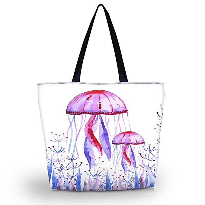 dc36e8b5d3b3 Amazon.com  Beach Tote Bags Travel Totes Bag Shopping Zippered Tote for  Women Foldable Waterproof Overnight Handbag (SB-7819)  newplenty