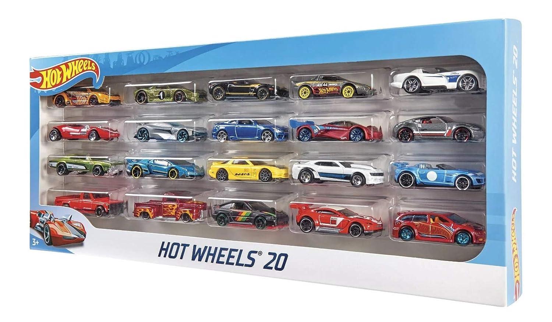 Mattel Hot Wheels H7045/Pack DE 20, Set de Regalo, Zufallige Coches/Modelos: Amazon.es: Juguetes y juegos
