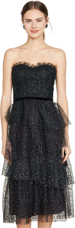 Marchesa Notte Women's Strapless Glitter Tulle Gown 71pELx0qzhL