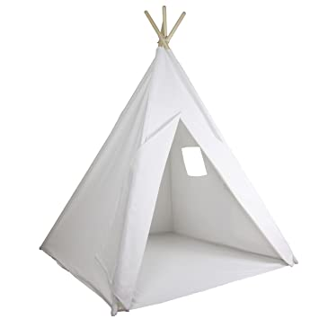 quality design 144c6 b7391 Teepee Play Tent for Kids - Deluxe 100% Cotton Canvas + FREE BONUS Fun  Flags! Tough & Built to Last. Perfect for Boys or Girls, Large Size Fits 2  ...