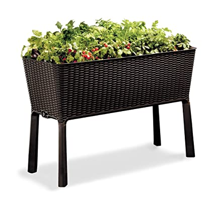 keter easy grow patio garden flower plant planter raised elevated garden bed brown - Als Garden Center 2