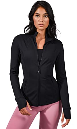 d92762c7a3b30 90 Degree By Reflex Women's Lightweight, Full Zip Running Track Jacket -  Black - Small