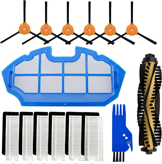 Robotic Vacuum Cleaner Parts Set Side Filter Brush for Ecovacs Deebot N79 DN622