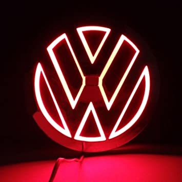 Red Illuminated 5D LED Car Tail Logo Light For Audi TT A3 Badge Emblem Light
