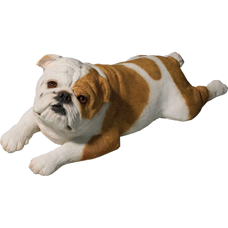 Amazon Sandicast Life Size Fawn Bulldog Puppy Sculpture