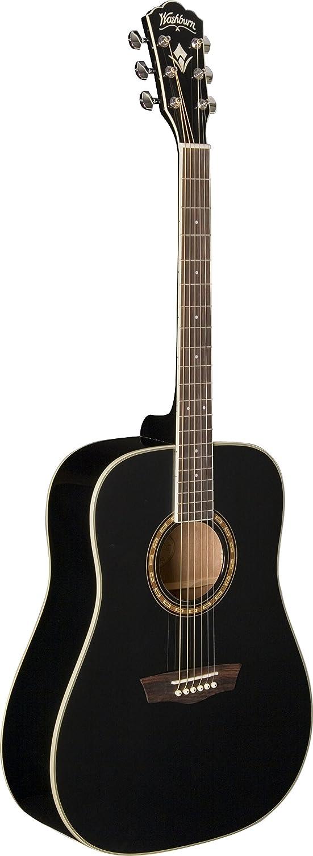Washburn WD10S-B Guitarra acústica - color negro: Amazon.es ...