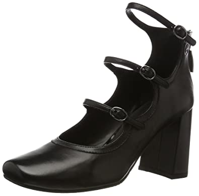 GERRY WEBER Shoes Viktoria 03, Damen Mary Jane Halbschuhe, Schwarz (Schwarz), 38 EU (5 UK)