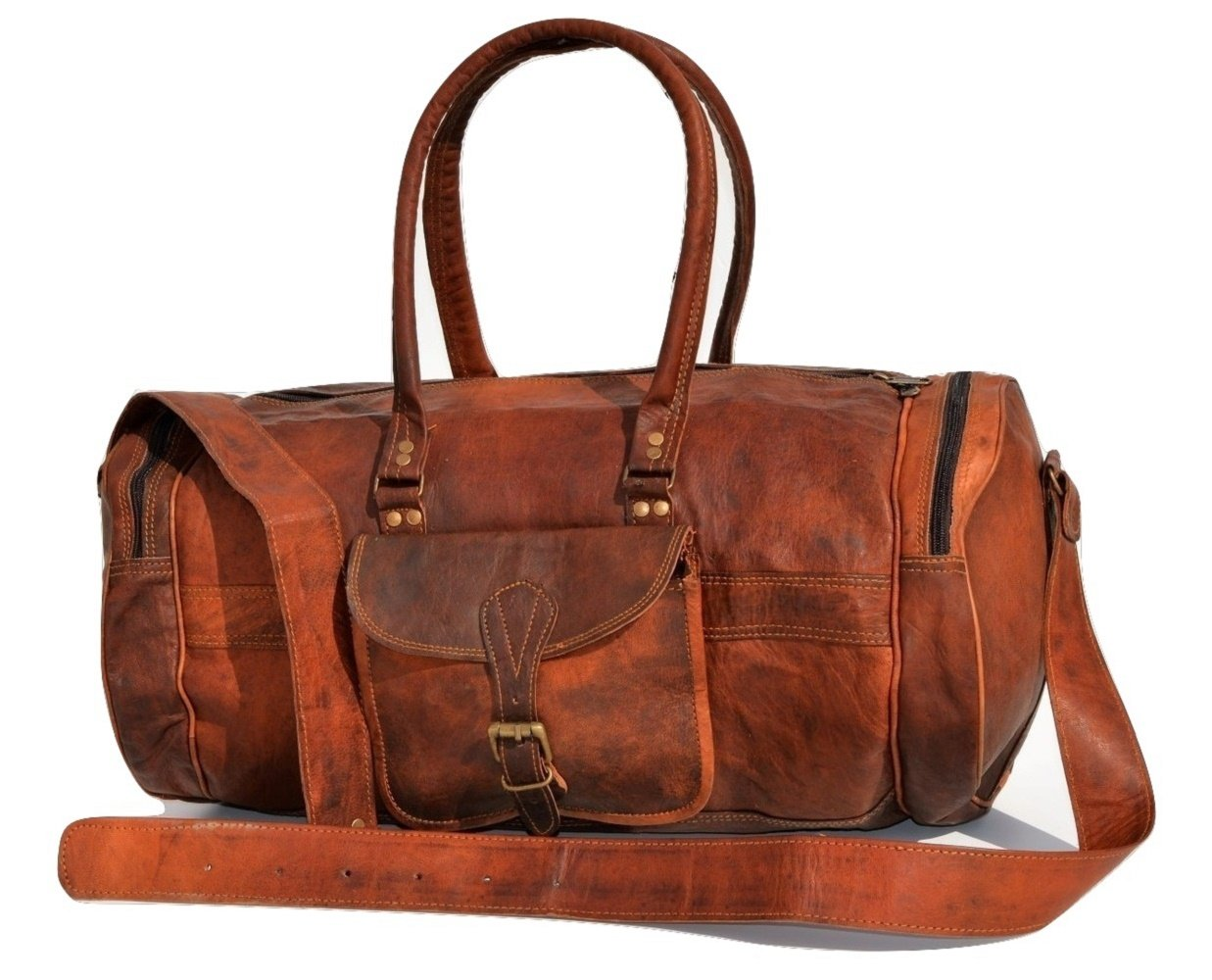 Urban Dezire Leather Duffel for Men and Women Overnight Weekend Diaper Travel Bags
