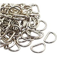 DEVIN0705 100 Pack Metal D Ring, 3/4 Inch (Silver)