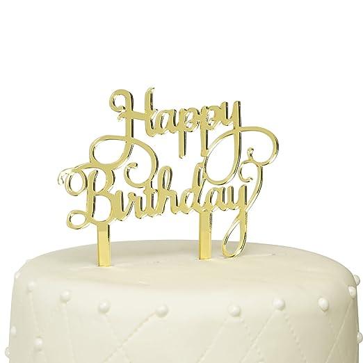 Unik Ocasiones Feliz cumpleaños decoración para Tarta para ...