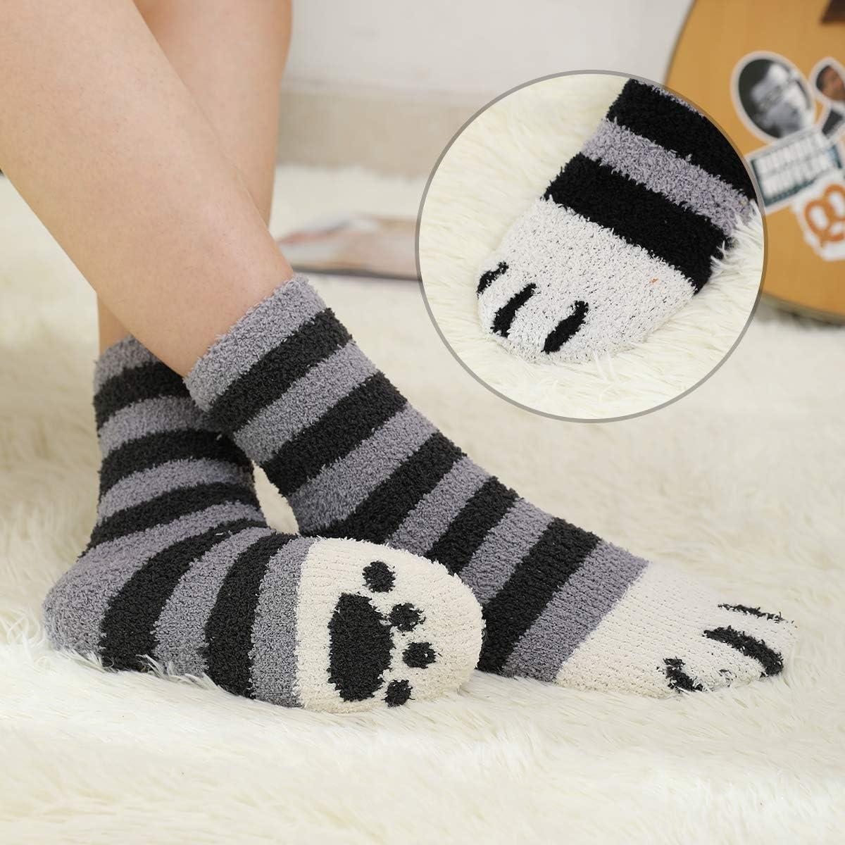 HapiLeap 5 paia di calzini da donna super morbidi in microfibra fuzzy pantofola calzini invernali caldi