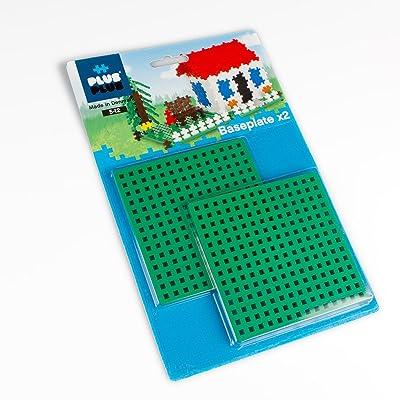 Plus-Plus Baseplate 12x12 cm, duo pack, 2 pcs, gre: Toys & Games [5Bkhe1106547]