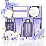 Bath and Body Gift Set - Luxurious 6 Pcs Bath Kit for Women, Body & Earth Spa Set with Lavender Scent - Bubble Bath…