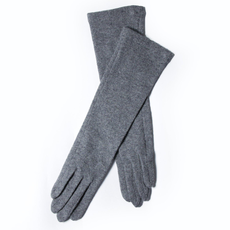 GSG Damen Wintewarme Strick-Wollhandschuhe, lang, Smart Touchscreen  Handschuhe, grau, EGLCW153W1008N5520: Amazon.de: Bekleidung