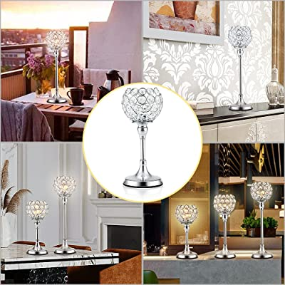 Buy Duobeier Silver Candle Holders Set Of 3 Crystal Votive Holder Tealight Candlestick Holders For Dining Table Centerpieces Coffeetable Wedding Housewarming Holiday Party Home Decor Online In Indonesia B091cvzmzh