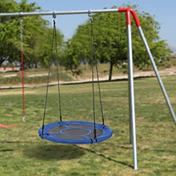 Amazon Com Vividy Outdoor Swing Set With Adjustable Hanging Ropes