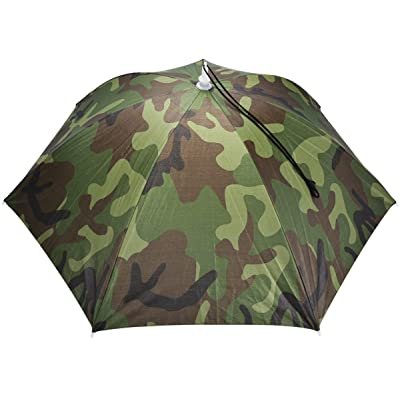 30in Diameter UV Protection Fishing Field Sun Umbrella Hat (Camouflage)