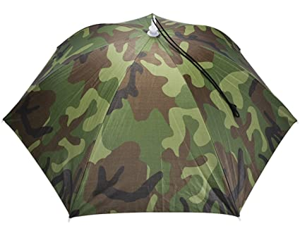 Image Unavailable. Image not available for. Color  Fansport Umbrella Hat  Fishing Sun Hat UV Protection ... 06074398bdd
