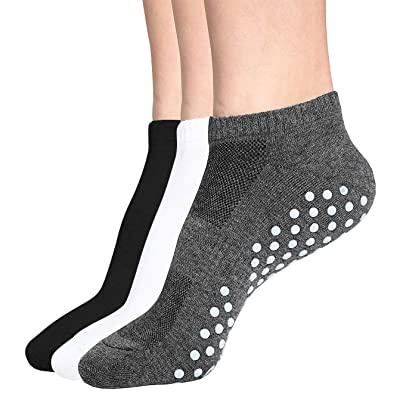 Womens & Mens Low Cut Socks, DIBAOLONG 6-Pair Ankle No Show Athletic Short Cotton Socks at Women's Clothing store