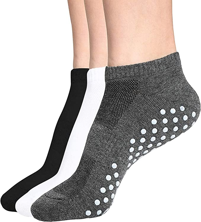 Socks Non Slip Low Cut with Grips for Pilates Hospital Women and Men 6 Yoga
