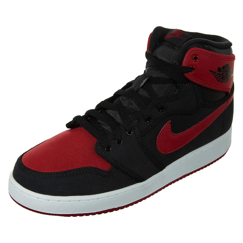 WHITE BLACK-GYM RED Nike - AIR JORDAN 1 MID