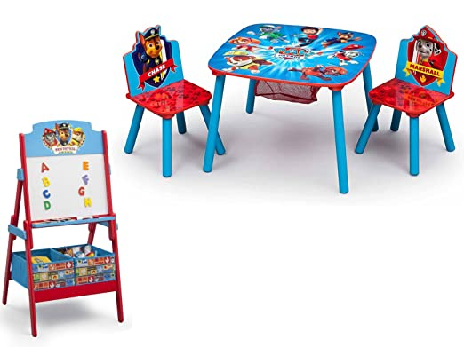 Amazon.com: NEW! Paw Patrol Activity Table Set and Delta Children ...