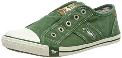 New Mustang Ladies Shoes Womens/' Sneaker Canvas Shoes Slip on Shoe