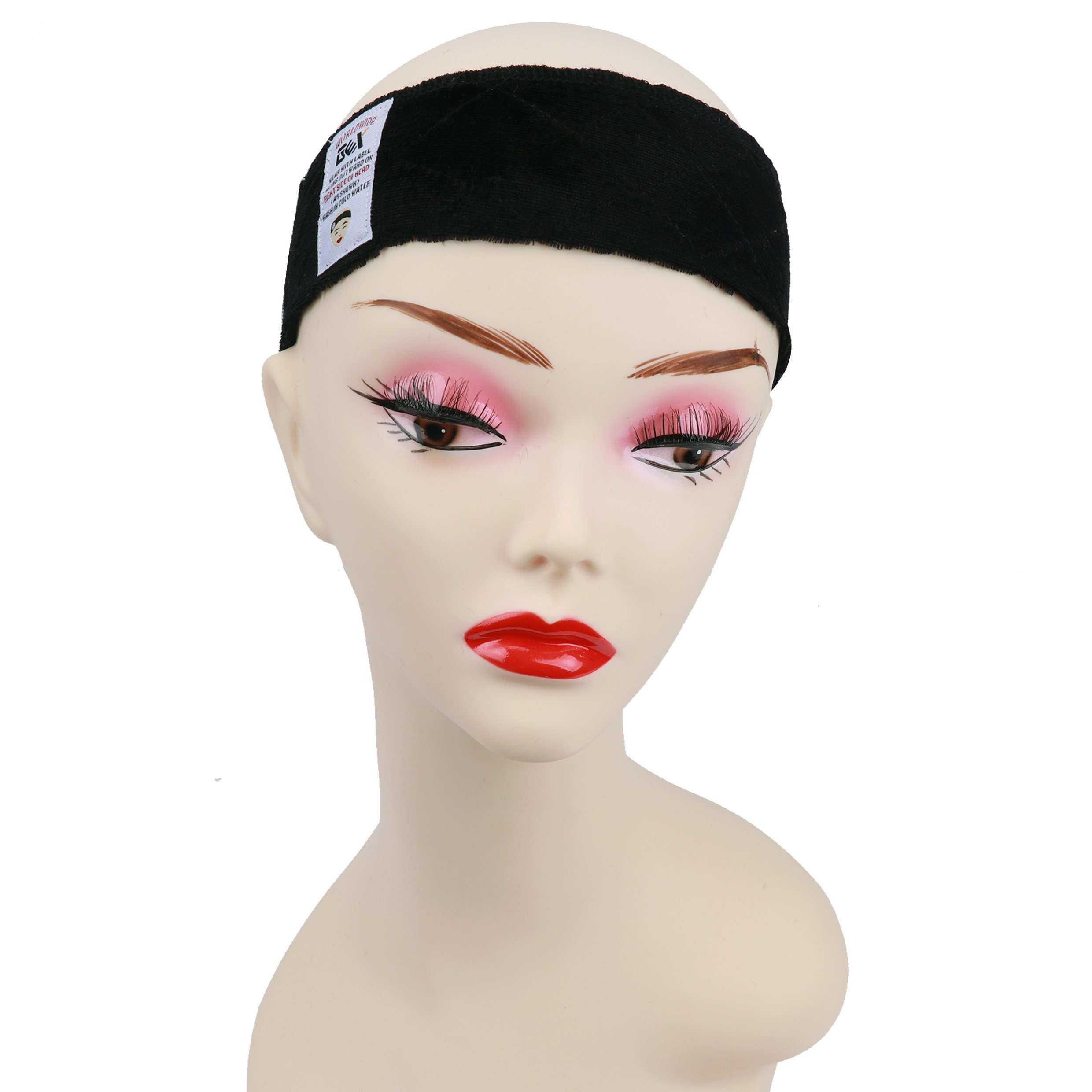 656d4274b Amazon.com : GEX New Style Beauty Flexible Velvet Wig Grip Scarf Head Hair  Band Wig Band Adjustable Fastern (New Black) : Beauty